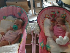 Emi and Eli 6 Days Old